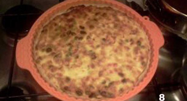 torta alla ricotta ripiena di frutta candita cottura