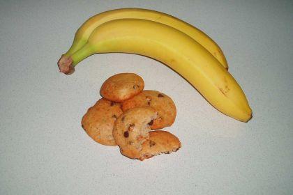 cookies banana e cioccolato