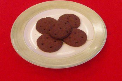 Biscotti rotondi al cioccolato