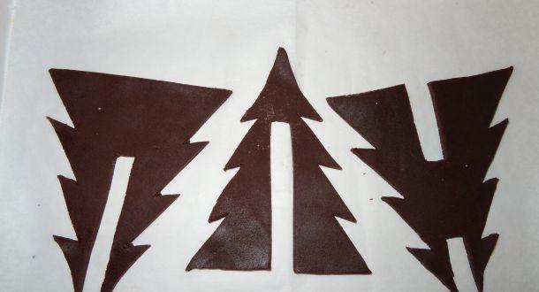 preparazione dell'albero di Natale di biscotto step 2