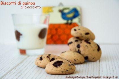Biscotti di quinoa al cioccolato senza glutine