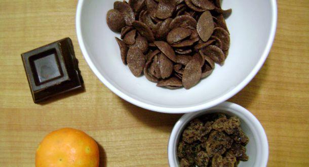 cereali arancia e cioccolato