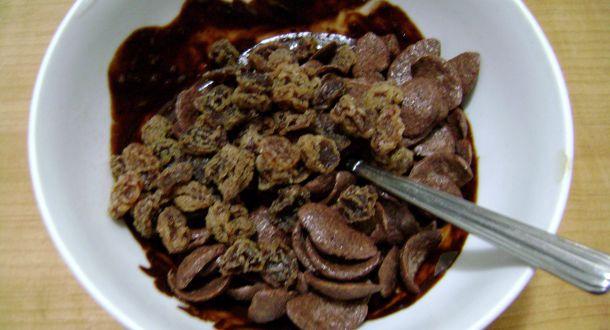 cioccolato uvetta e cereali per impasto croccantini
