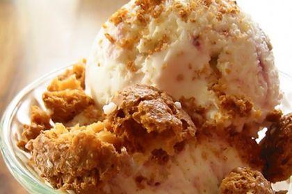 Coppa gelato flambé