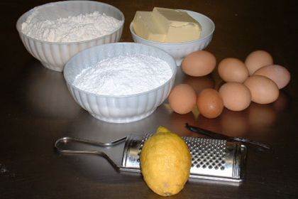 ingredienti per la pasta frolla