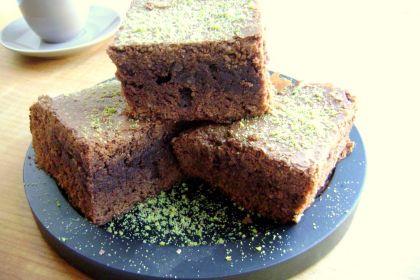Brownies al cioccolato fondente e pistacchi