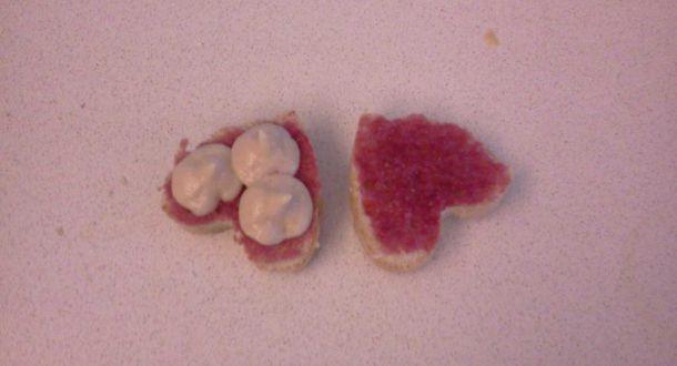 cupcake diviso a metà per farcirlo