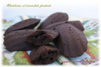 madeleines al cioccolato fondente senza glutine