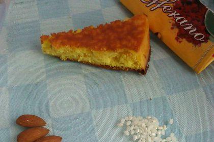 torta di riso allo zafferano