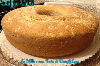 Chiffon cake ciambellone americano
