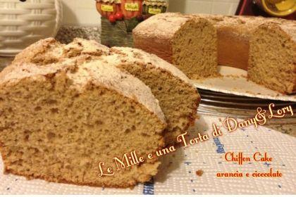 Chiffon cake arancia e cioccolato al latte