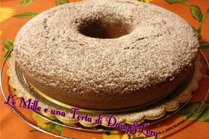 Chiffon cake al cioccolato fondente e caffè aromatizzato alla vaniglia
