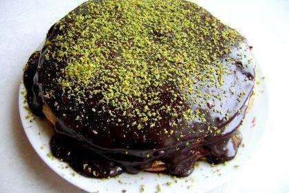 torta di crepes alla nutella