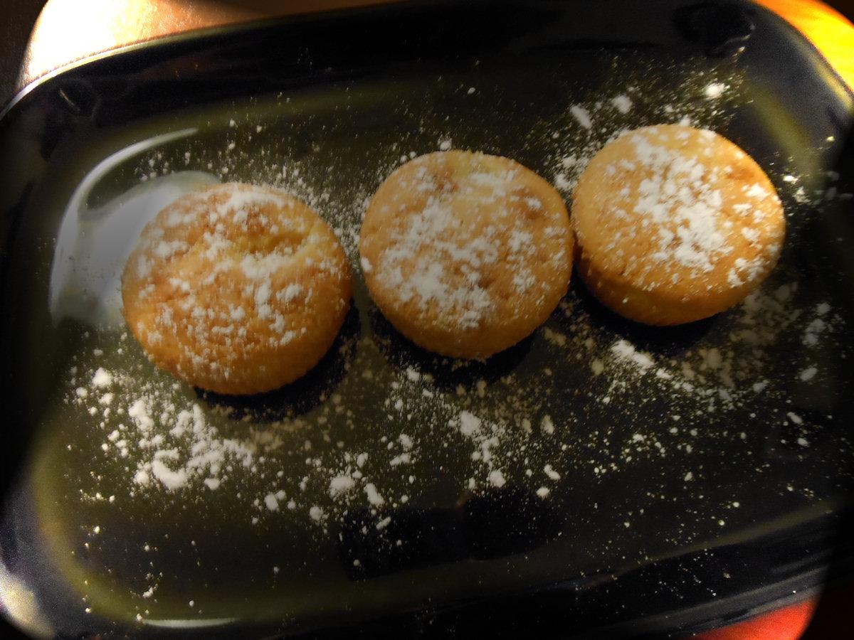 muffin con il cuore di arancia