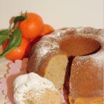 Ciambella senza glutine con farina di castagne al profumo di mandarino