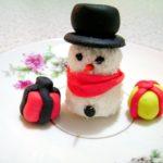pupazzo di neve pasta di zucchero