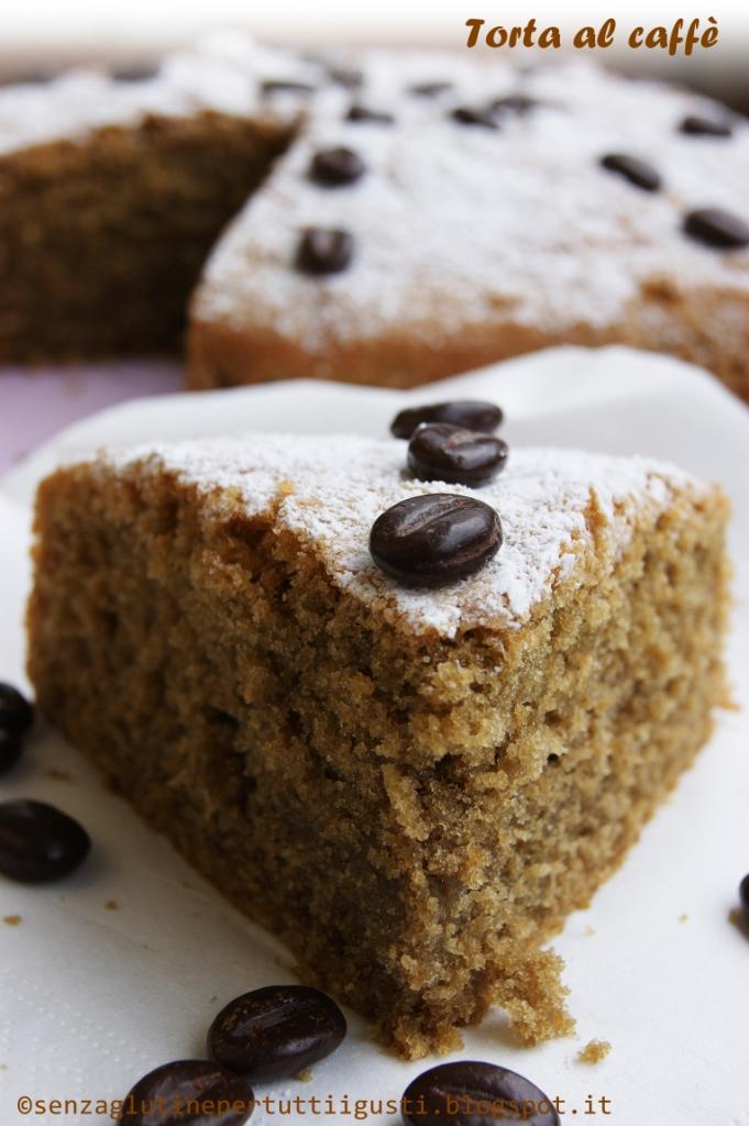 Torta soffice al caffè senza glutine e senza latte