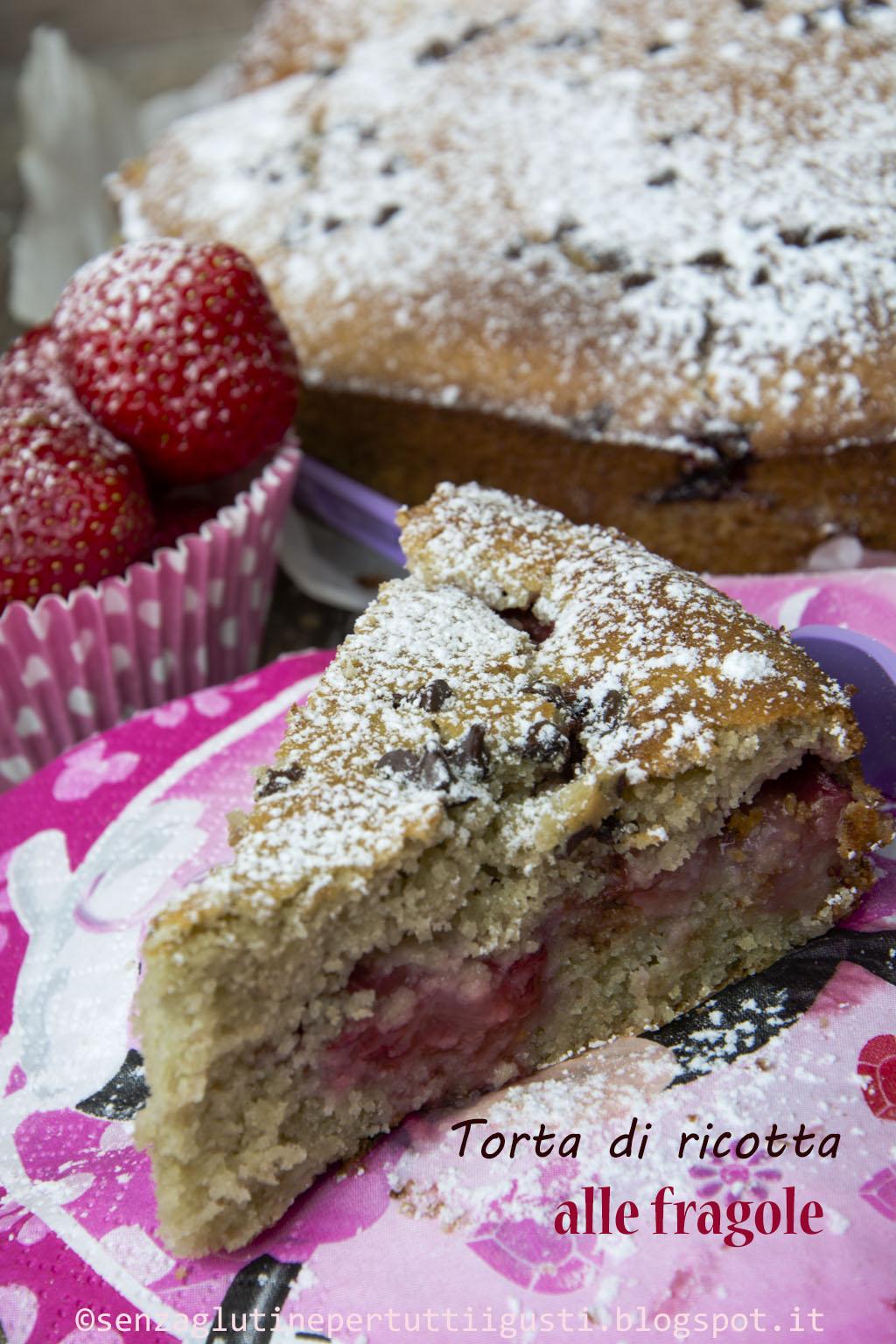 ricetta torta di ricotta e fragole con farina di teff senza glutine