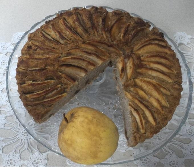 Torta di mele senza glutine e senza zucchero