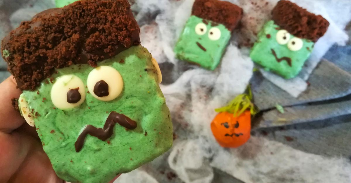 Brownies Frankenstein di Halloween
