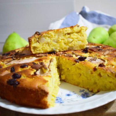 ricetta torta di pere e mandorle senza glutine