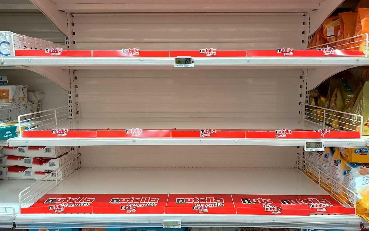 nutella biscuits introvabili sugli scaffali dei supermercati